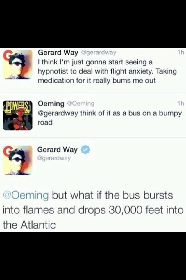 Way to think positive Gerard xD