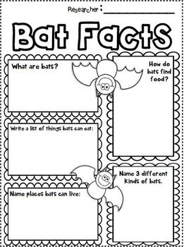 FREEBIE in the Preview! BATS MINI UNIT ~ INFORMATIONAL TEXT MINI UNIT ABOUT BATS FOR 1ST-2ND GRADE! So much fun while using simple research skills for young learners!
