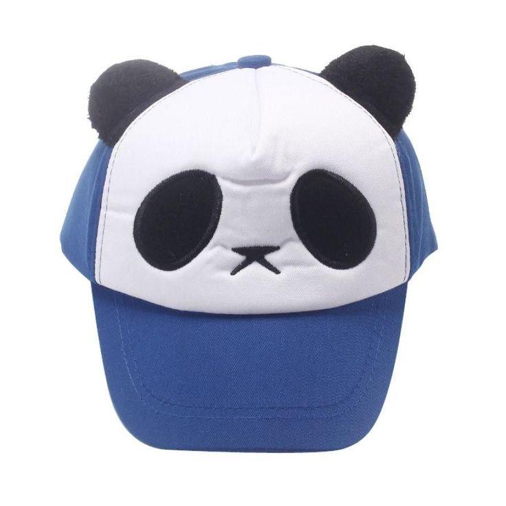 hat 2016 hot baby Child Boys Girls Cotton Cute Panda Baseball Cap Hat photography props kids hat baby bonnet topi bayi