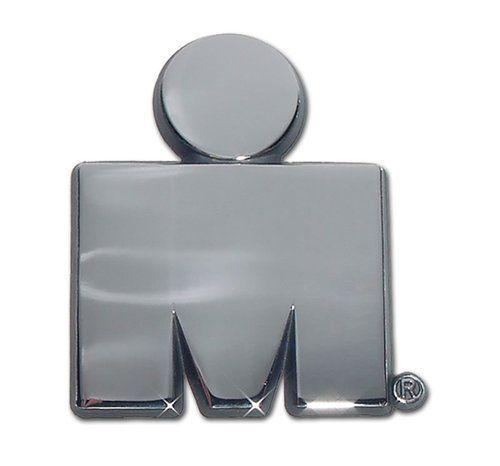 Ironman M Dot Logo Chrome Car Emblem