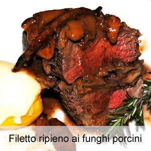 Filetto ripieno ai funghi porcini