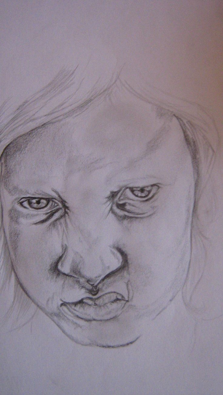 unfinished portrait drawing...