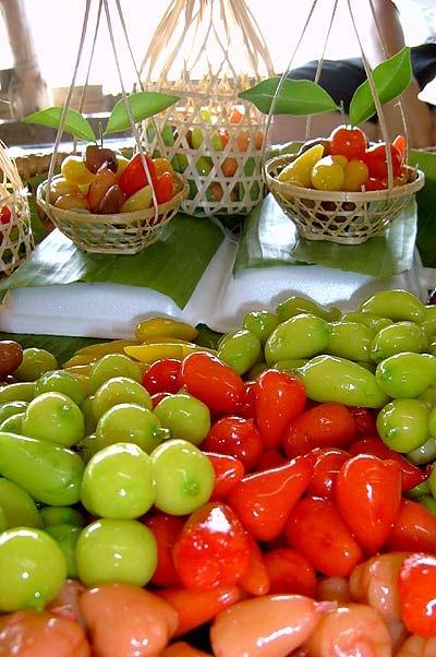 deletable imitation fruits ( Thai Dessert )