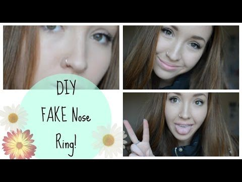 DIY FAKE Nose Ring! | MissMae144