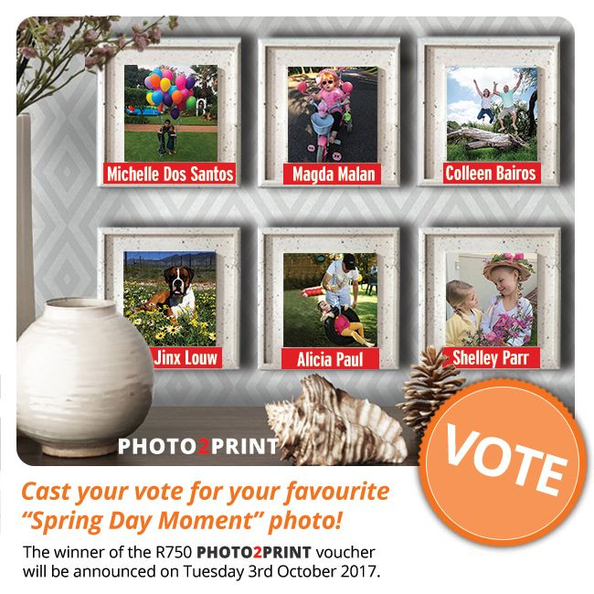 Vote now for our finalists!!! https://contest.fbapp.io/best-spring-day-voting The winner of the R750 gift voucher will be announced on Tuesday 3rd October 2017.  #votenow