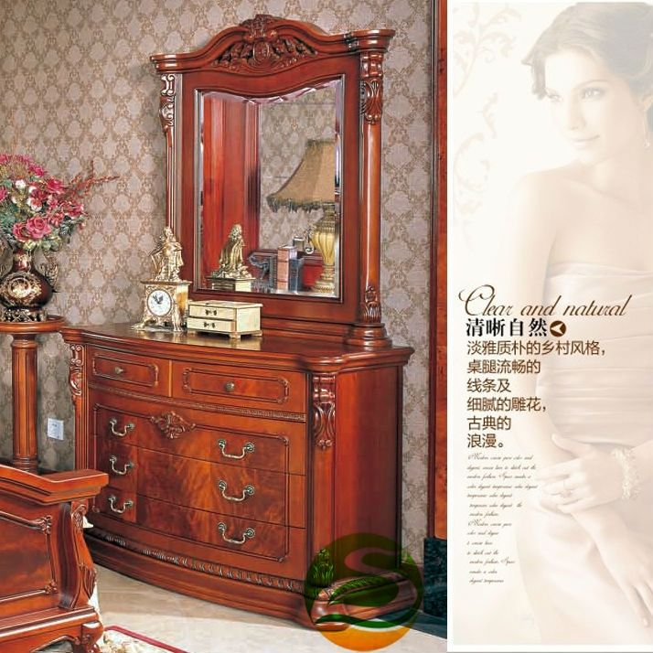 1800.00$  Watch more here  - Dresser Solid wood dresser with vanity mirror chair