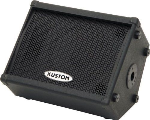 "Kustom KPC12MP 12"" Powered Monitor Speaker by Kustom. $179.99. The Kustom KPC12MP is a 100W powered monitor speaker with an angled wedge design, a 12"" Kustom-built loudspeaker and a piezo HF driver. The Kustom monitor is tuned to deliver rich, balanced tonality while accurately reproducing a wide variety of audio content. The Kustom KPC12MP powered monitor speaker provides balanced XLR and TRS 1/4"" (balanced/unbalanced) input jacks. These may be used to connect a wid..."