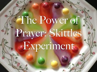 This experiment with skittles is colourful, easy and makes a great statement about what we are asking God to do when we pray.  In essence...