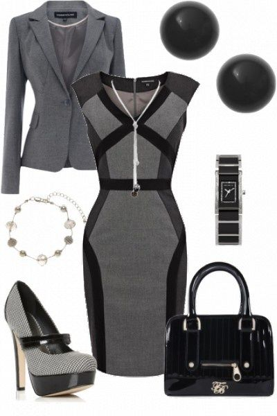 Pencil dress.. great office look.. Sexy and classy. Great look