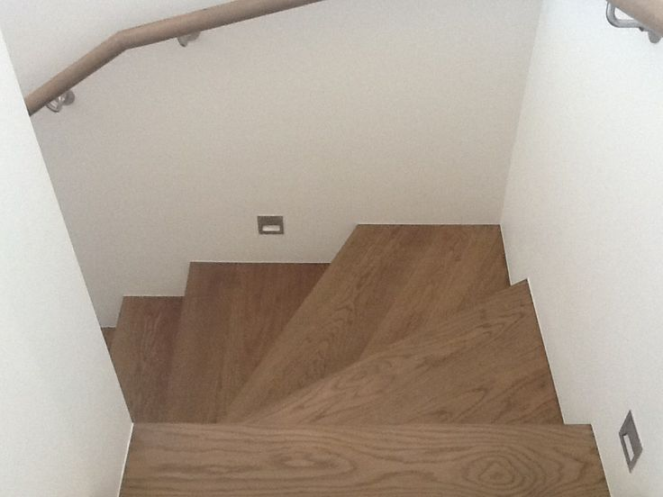 American White Oak Staircase Brown Stain