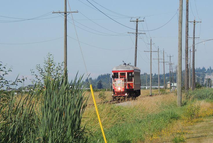 The Clover Belle train!  Heading back to Cloverdale.  Highway 10 to the right of the picture