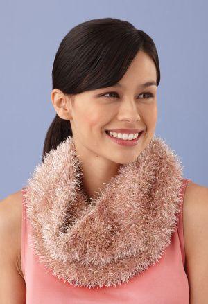 Loom Knit Glitter Cowl