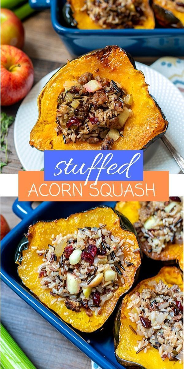 Stuffed Acorn Squash Is Made With Tender Roasted Acorn Squash That