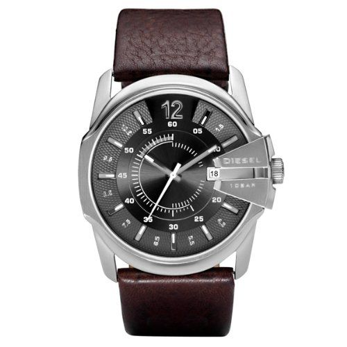Buy Diesel DZ1206 Gents Grey Dial Brown Leather Strap Watch at http://salemall.co.uk/index.php?product_id=B001J1772I