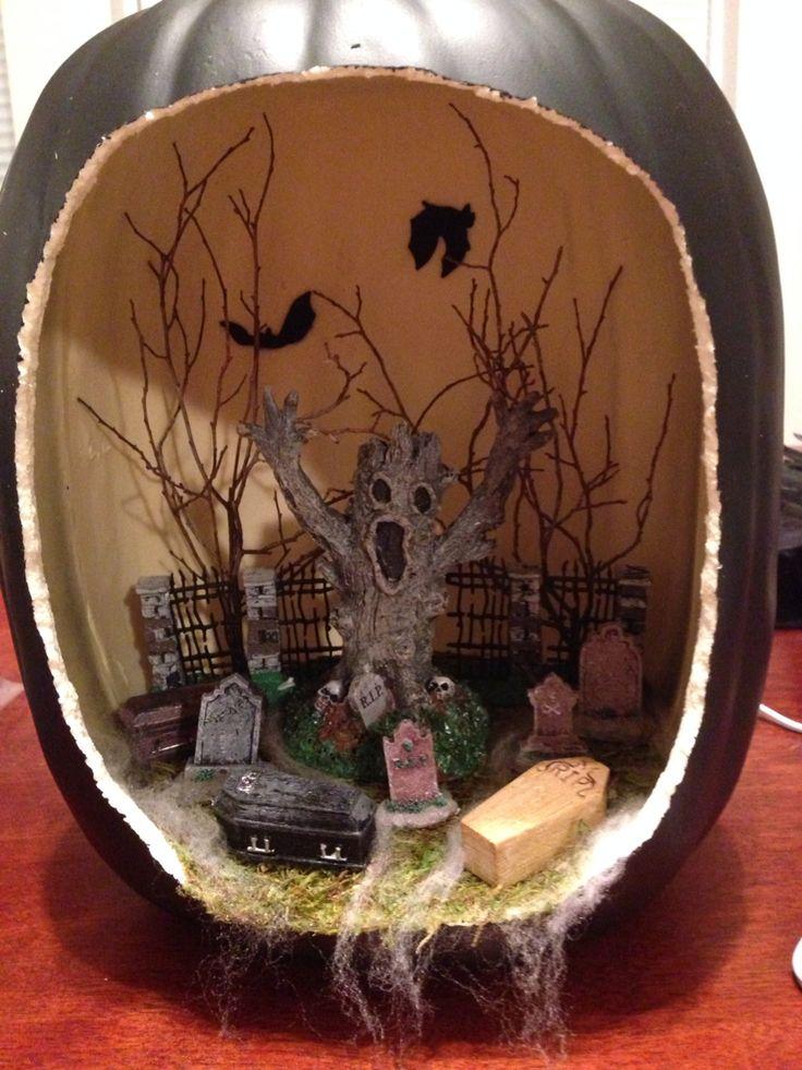 haunted graveyard die o rama pumpkin diorama - Halloween Diorama Ideas