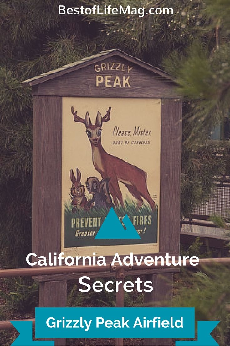 California Adventure Secrets Grizzly Peak Airfield