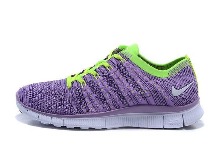 Nike Free Flyknit NSW Naisten Juoksukengät Violetti Vihreä