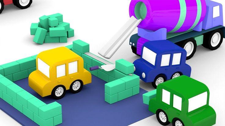 Le macchinine colorate e la betoniera | Cartoni animati per bambini