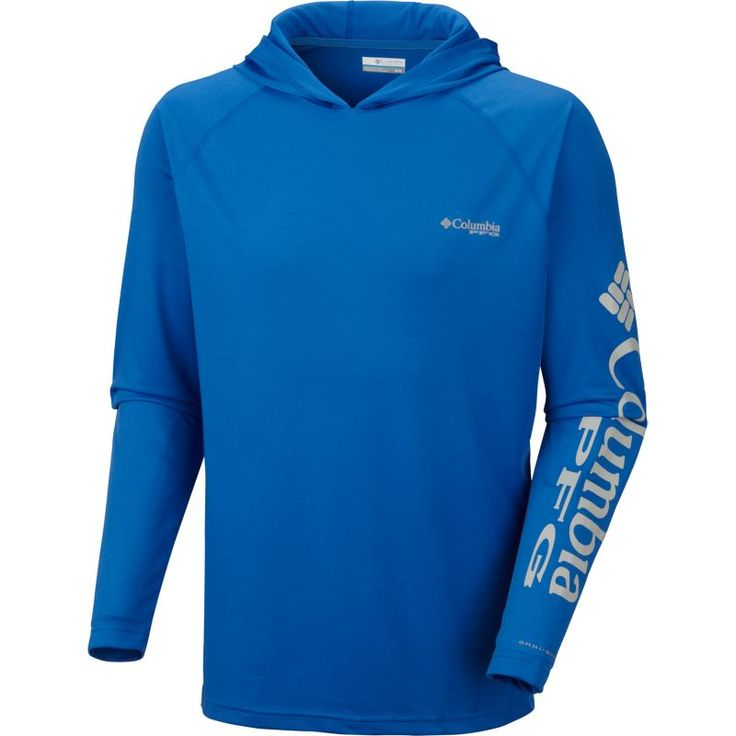 Columbia Men's PFG Terminal Tackle Hoodie, Size: Large, Blue