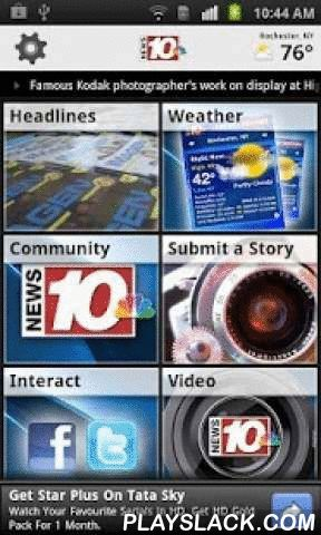 News 10 NBC WHEC  Android App - playslack.com ,  Get breaking news, weather, sports and more for Rochester, New York.Stay on top of the latest local news headlines, weather updates, sports scores and so much more from News10NBC.In addition to the latest news headlines, you'll also receive...- New York State Exposed reports- Investigative reports - Real-time traffic conditions- Weather updates and daily forecasts from the News10NBC weather team- Entertainment news- Submit photos, video, and…