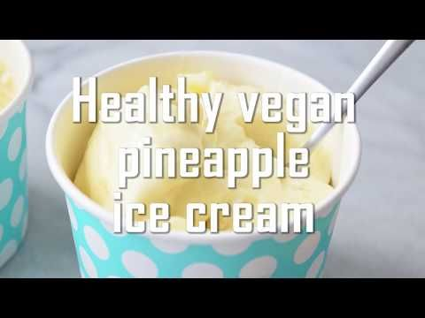 Healthy pineapple ice cream- low FODMAP 300 g frozen pineapple 120 ml canned coconut milk 2 tbsp maple syrup