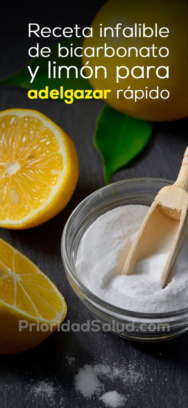 Receta para adelgazar sin dieta. Combina limón y bicarbonato de esta forma para perder peso. ¡Infalible!