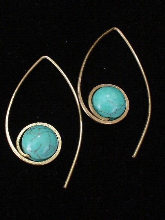Blue Lotus Earrings by crafitti on Etsy, $12.00