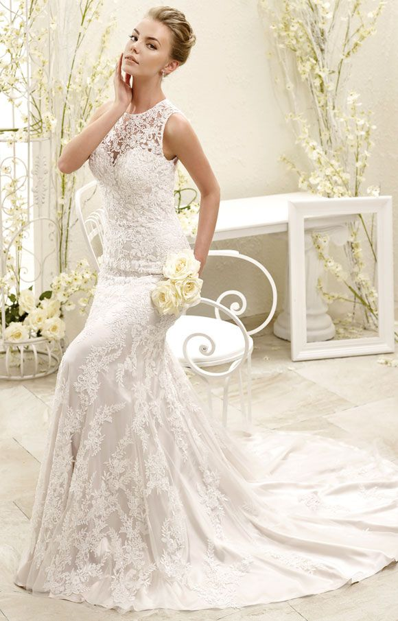 Eddy K 77961 - Soft tulle / Venice beaded appliqués. | Brides of Melbourne | Vintage Style Bridal Gowns
