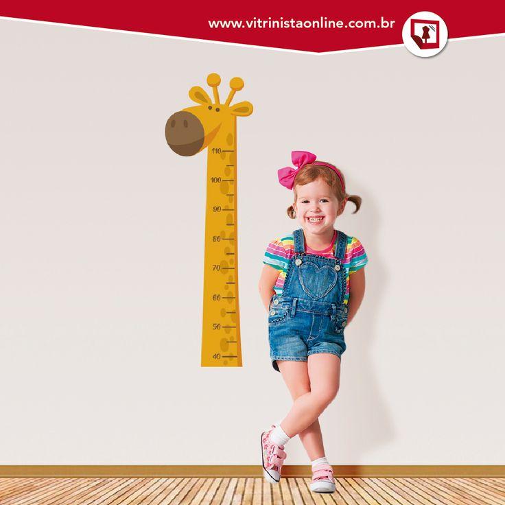 Nossa régua de crescimento infantil é a coisa mais fofa e fica linda no quarto do filhote.