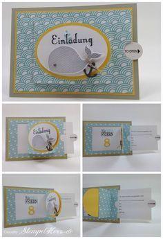 Stampin Up   Stempelherz   Ziehkarte   Einladung   Kindergeburtstag    Sale A Bration