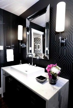 Zgallerie: U201cStyle Tip: Pamper Your Guests With A Perfect Powder Room! Make  Every Inch Count In A Smaller Space With A Mirror That Will Add Instant  Depth, ...