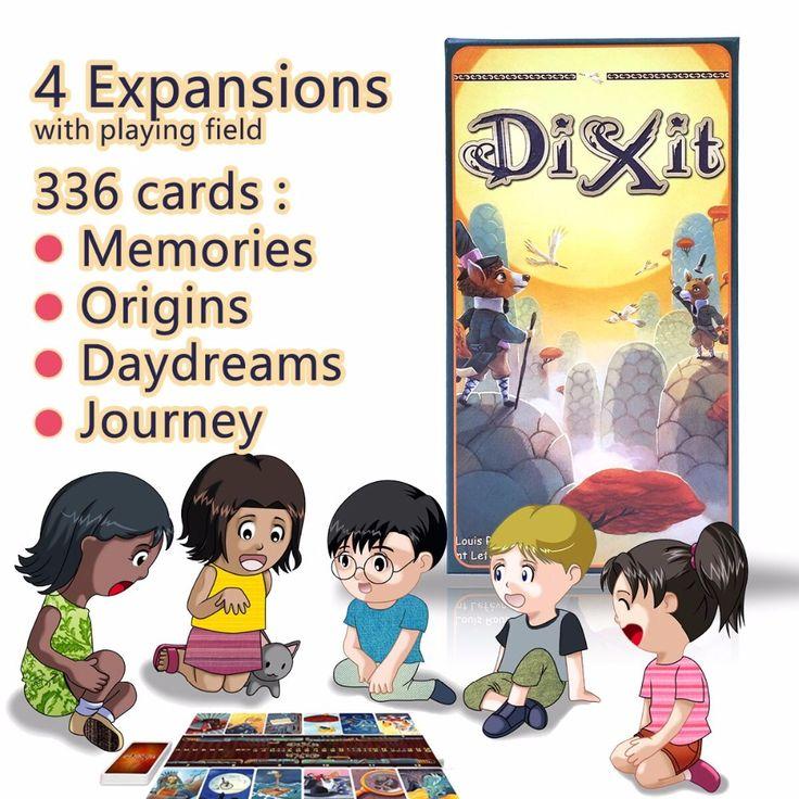 Keluarga papan permainan dixit dengan 336 kartu 12 pemain stabil kayu kelinci, gratis pengiriman untuk anak-anak pendidikan imajinasi languag
