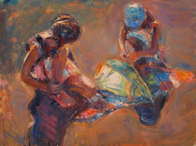 """To typowy dla autorki """"wybrany fragment rzeczywistości"""", jak artystka jeszcze do niedawna tytułowała swoje obrazy, na których często znajdziemy beztroskie sceny z dziećmi. Jej obrazy są niezwykle popularne wśród miłośników sztuki, chociaż więcej mają wspólnego z płótnami impresjonistów niż z trendami sztuki najnowszej. #Marta Lipowska - Kompozycja z zepsutym latawcem"""