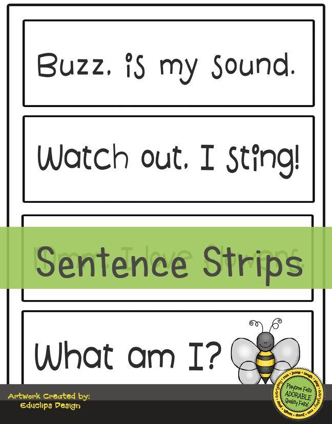 photograph about Sentence Strips Printable named Spring Prek Functions Digi Obtain Preschool Printables