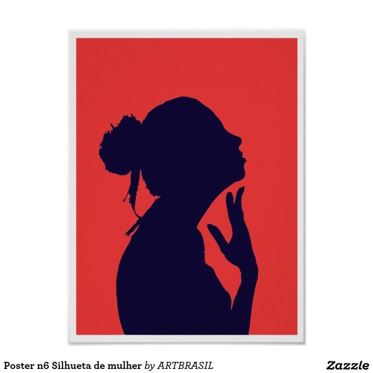 Poster n6 Silhueta de mulher silhueta mulher, perfil