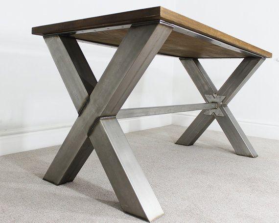 Russell Oak & Steel 6ft Industrial Dining Table