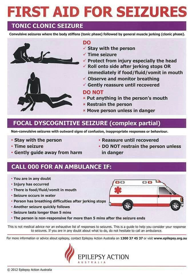 Excellent poster with straight forward instructions for first aid measures for seizures Repinned to Dating4Disabled http://www.dating4disabled.com/