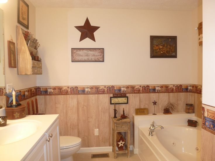 Country Bathroom Decor: 25+ Unique Primitive Wallpaper Ideas On Pinterest