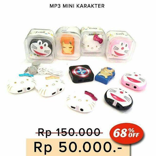 MP3 PLAYER KARAKTER Hello Kitty dan Iron Man Captain America Doraemon  Ukuran mini & unik - Memutar lagu-lagu MP3 dengan MicroSD. - Kualitas suara jernih - Kelengkapan: earphone dan usb cable data - Box Mika Harga 50.000  Order: Line @ jakartakomputer  Whatsapp : 08787 8775 832  Pin BB 5B04D5D6  WAJIB menggunakan format order  nama : no hp : alamat lengkap : pesanan :  Tidak pakai format akan slow response!  #mp3player #Karakter #jktkom #jakartakomputer #imbisnis #carireseller #diskon…