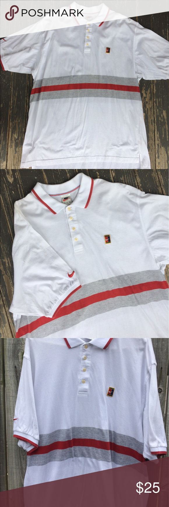 Vintage Nike Andre Agassi Nike polo shirt men's XL Vintage Nike polo Quarter Button shirt. Men's XL true to size. Nike Shirts Polos