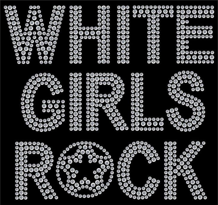 Белые девушки рок Hot Fix передача горный хрусталь аппликация патч исправление передачи горный хрусталь мотивы стразы исправить