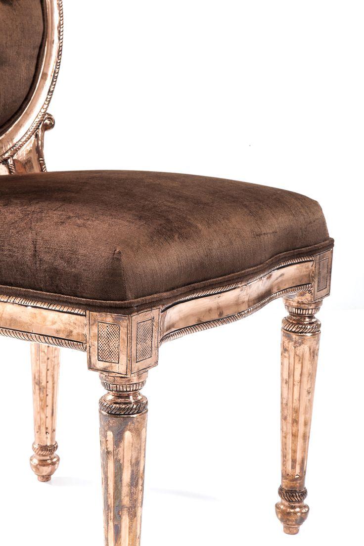 Krzesło Louis Brown Copper