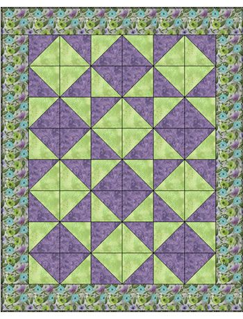 Tumbling Triangles 3 Yard Quilt091420