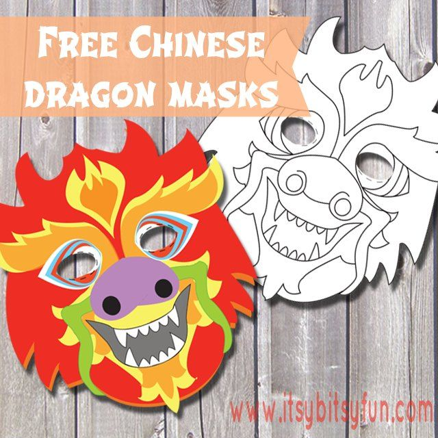Free to download from Itsybitsyfun   Click  here  to download   Related Pinterest Boards  Chinese New Year  Dragons  Masks  Homeschool