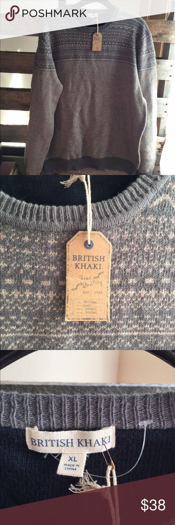 British Khaki sweater lambswool/cotton XL NWT Smoke and pet free home. Bundle discount 20% british khaki Sweaters Crewneck