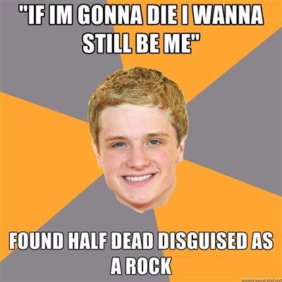 :D: Laughing, Advicepeeta, The Hunger Games, Advice Peeta, Hungergameshumor, Breads, Even, Hunger Games Humor, Book Jackets