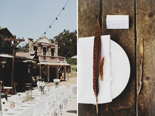 Long Branch Farms Laid-back Western Town Wedding: Stephanie + Jordan