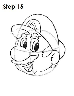 how to draw mario step by step for kids