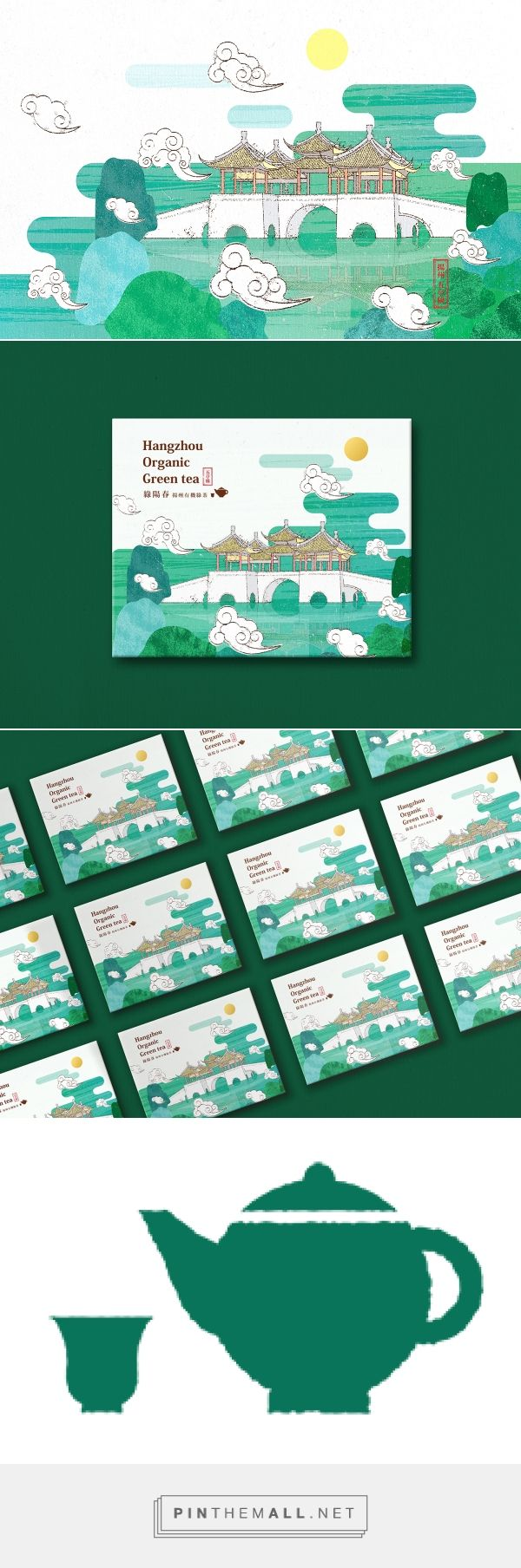 Graphic design, illustration and packaging for Yangzhou tea packaging on Behance by Hanna Chen Taichang, Taiwan curated by Packaging Diva PD. Let's have a cup of tea.