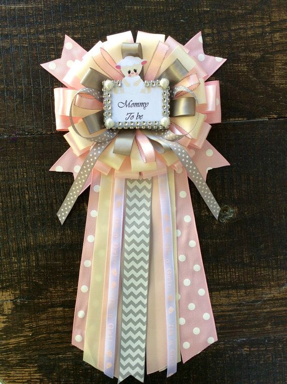 Little sheep baby shower mommy to be pin by Marshmallowfavors